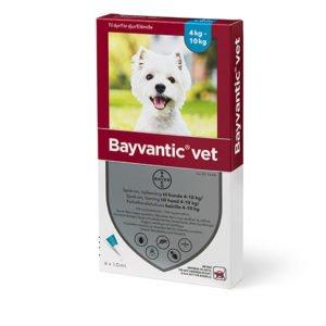 Bayvantic Vet. hund 4 til 10 kg. 4x1,0ml