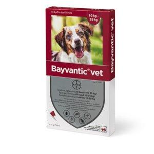 Bayvantic Vet. hund 10 til 25 kg 4x2,5ml