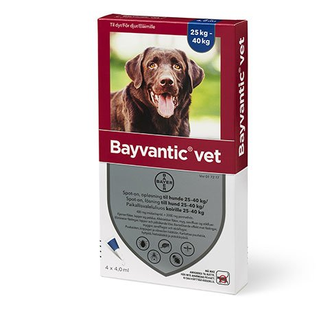 Bayvantic Vet. hund 25 til 40kg. 4x4,0ml