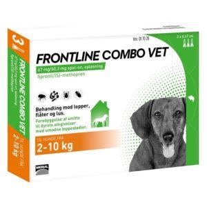 Frontline Combo Vet Hund 2 10 kg 3x0,67 ml
