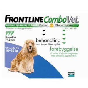 Frontline Combo Vet Hund 10 20 kg Frontline, Loppemidler hund, Lopper & Legetøj