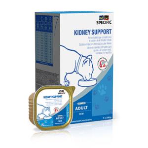 4 pakker SPECIFIC FKW Kidney Support 7 x 100g Hjerte problemer, Lever problemer, Nyre problemer, Urinvejssten