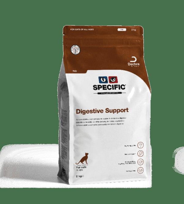 SPECIFIC FID Digistive Support. Kattefoder mod dårlig mave / skånekost 3 x 2,0 kg.